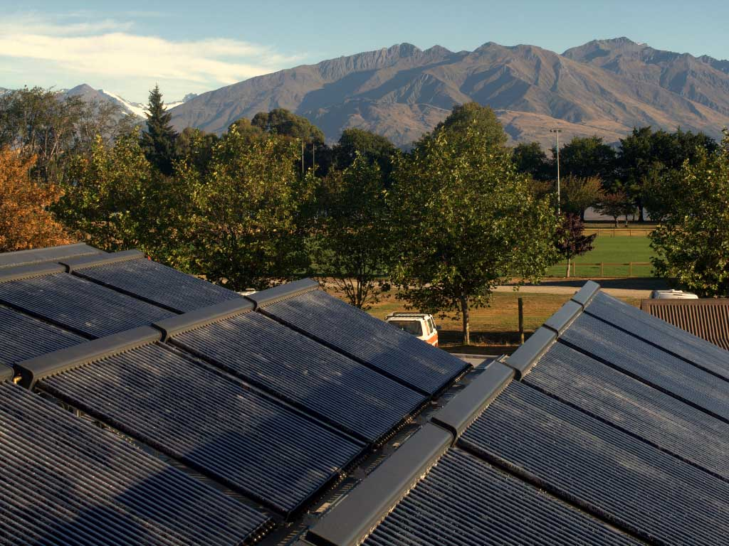 Commercial Hot Water Solar Example in Wanaka