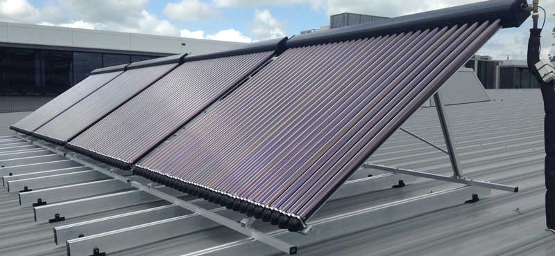 Solar Hot water installation for Genesis in Hamilton