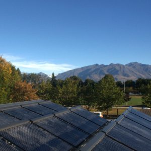 solar hot water installation on campground in wanaka